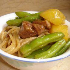 土豆芸豆焖面的做法