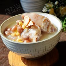 参归花生黄豆煲猪蹄的做法