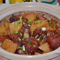 土豆猪蹄砂锅煲的做法