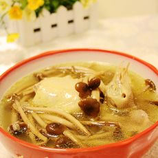 茶树菇炖鸽子汤的做法