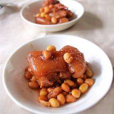 黑椒蚝油黄豆猪蹄的做法
