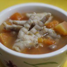 木瓜鸡脚汤的做法