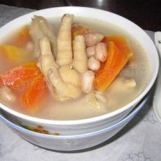 鸡爪木瓜花生汤