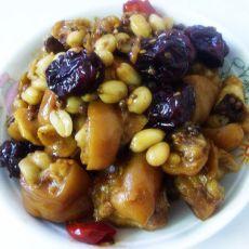 花生红枣焖猪手的做法