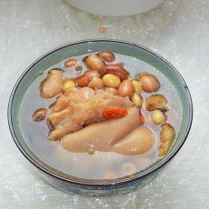 花生黄豆炖猪蹄的做法