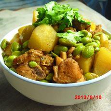 黄豆土豆鸡块的做法