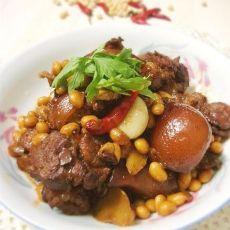 红烧黄豆猪蹄的做法