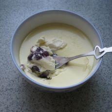 紫薯丁牛奶炖蛋