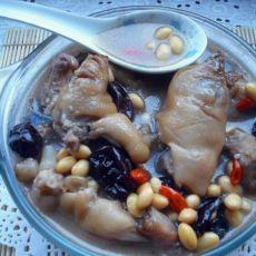 猪蹄黄豆的做法