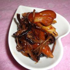 红烧猪蹄茶树菇的做法