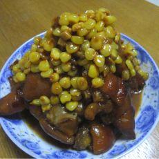 猪蹄烧玉米的做法