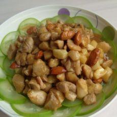 酱香鸡肉坚果的做法