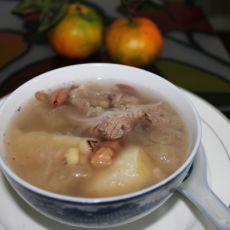 花生眉豆煲淮山猪骨的做法