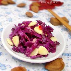 杏仁拌紫甘兰