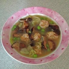 香菇肉丸汤的做法