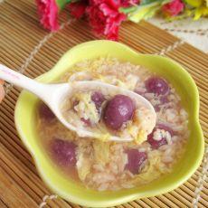 米酒紫薯小圆子