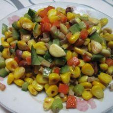 杏仁玉米粒的做法