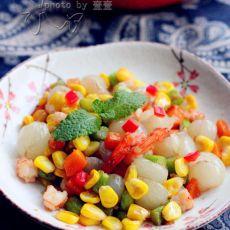 桂圆虾仁玉米粒