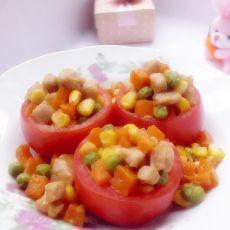 五彩番茄盅