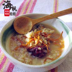 茶汤虫草花燕麦粥——私家自创