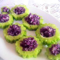 紫甘蓝苦瓜的做法