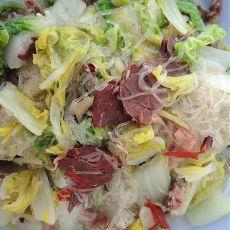 牛肉烧白菜粉丝的做法