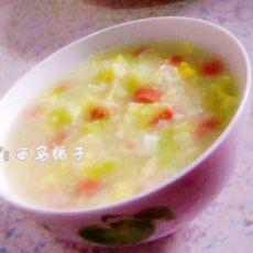 火腿鸡蛋蔬菜粥
