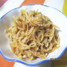 红油金针菇的做法