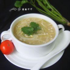 青笋金针菇汤