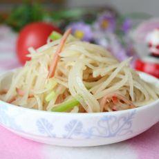 火腿青椒土豆丝的做法