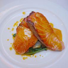 橙汁三文鱼的做法