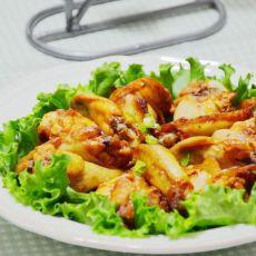 烤咖喱鸡翅的做法