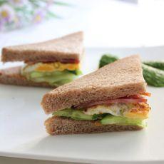 培根煎蛋三明治的做法