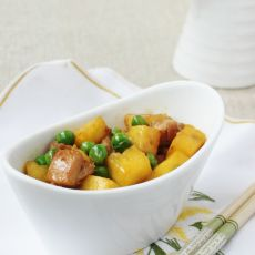 豌豆菠萝鸡丁的做法