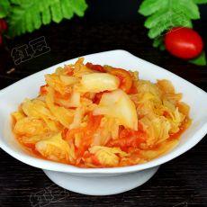 西红柿炒包菜的做法