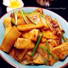 自制豆腐烧杏鲍菇的做法