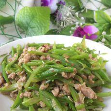 家常四季豆炒肉的做法