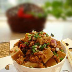 香菇肉糜炒老豆腐的做法