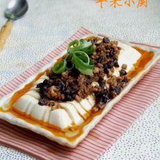 香菇酱肉末豆腐的做法