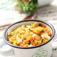 芹香豆干炒鸡蛋的做法