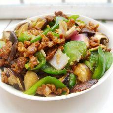 菜椒香菇炒肉丝