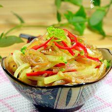 莴苣拌肉皮的做法