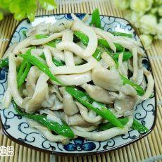 青椒炒平菇的做法