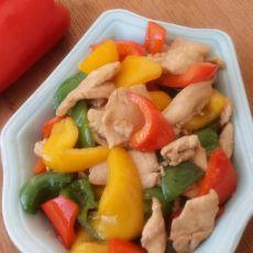 鸡肉炒彩椒的做法