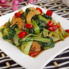 海米扒油菜
