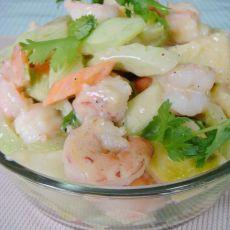 凉拌虾仁土豆沙拉