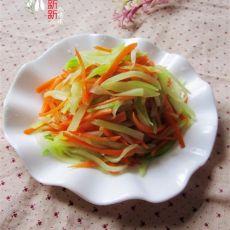 凉拌莴苣胡萝卜丝的做法