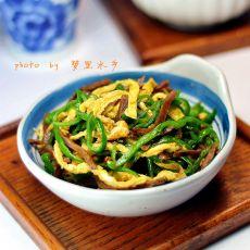 孔明菜炒青椒蛋丝的做法