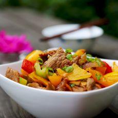 彩椒牛肉的做法