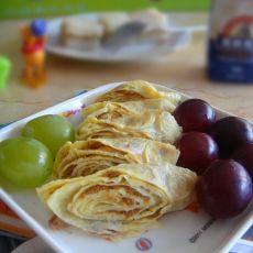 肉松鸡蛋卷—营养早餐